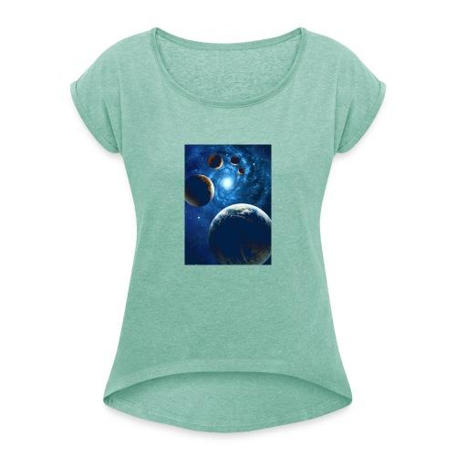 1ac7f8d74adc1b674a47a8bf123896f0 - Camiseta con manga enrollada mujer