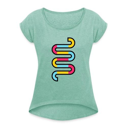 Die DNA deines Unternehmens - Frauen T-Shirt mit gerollten Ärmeln