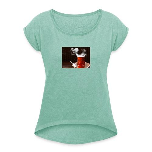 Cay geht einfach überall - Frauen T-Shirt mit gerollten Ärmeln
