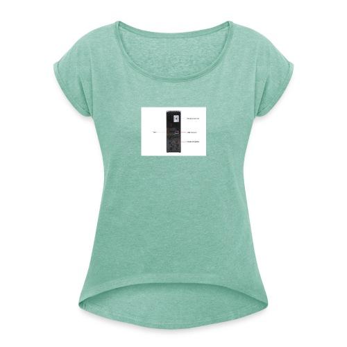 22 136 021 04 - T-shirt med upprullade ärmar dam
