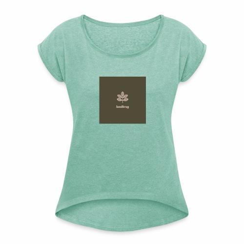 Landbrug - Dame T-shirt med rulleærmer