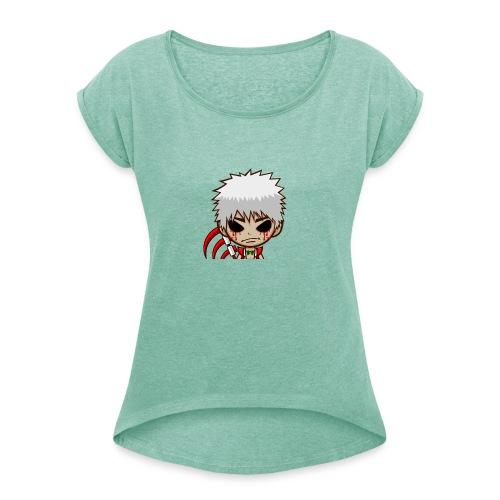 Trixka - T-shirt à manches retroussées Femme