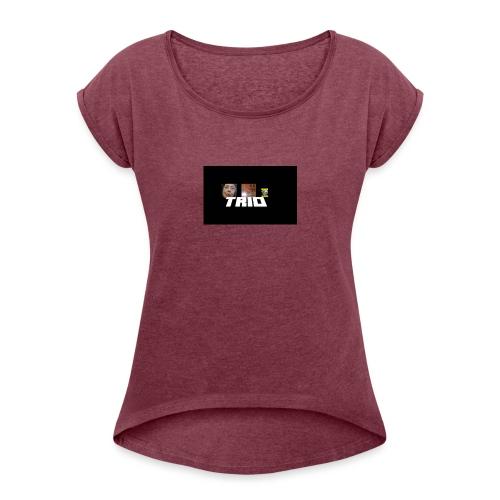 TRIO - Maglietta da donna con risvolti