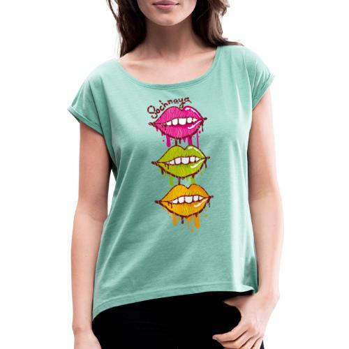 Сочная / Sochnaya - Frauen T-Shirt mit gerollten Ärmeln