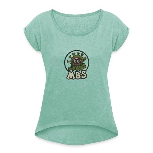 Logo MBS - T-shirt à manches retroussées Femme