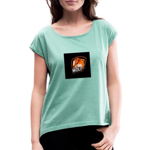 Serecchia Wolf - Maglietta da donna con risvolti