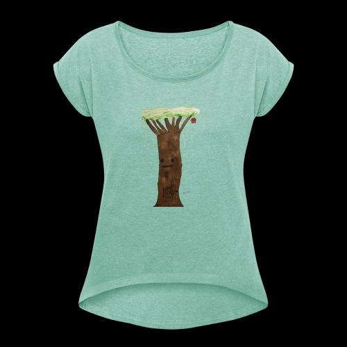 1 2 3 BY TAiTO - Naisten T-paita, jossa rullatut hihat