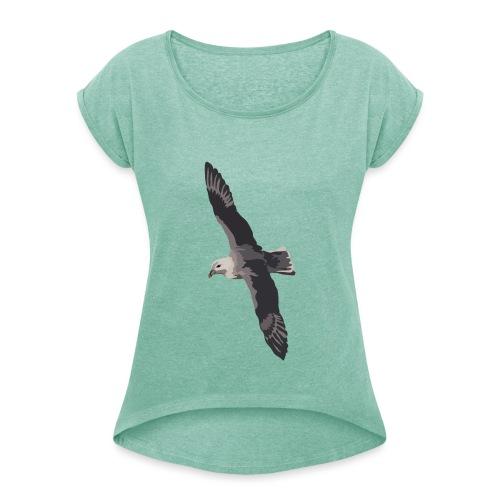 Eissturmvogel - Frauen T-Shirt mit gerollten Ärmeln