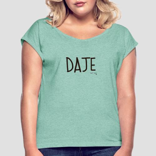 Daje - Maglietta da donna con risvolti