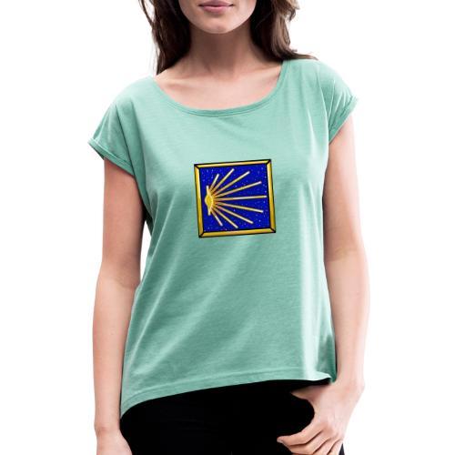 Bandiera Definitiva Cammino Di Santiago De Compost - Maglietta da donna con risvolti