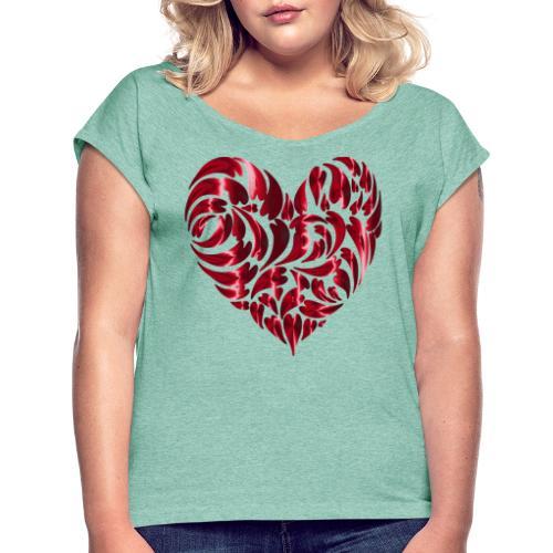 Herz - T-shirt à manches retroussées Femme