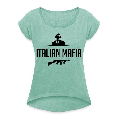 italian mafia - Maglietta da donna con risvolti