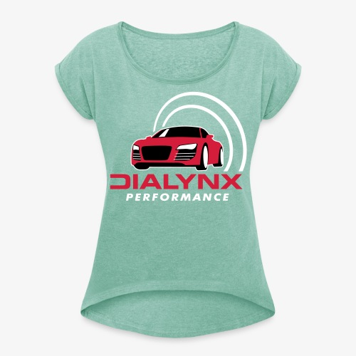 Dialynx Logo - Women's T-Shirt with rolled up sleeves