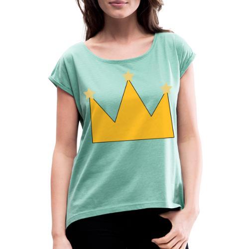 kroon - T-shirt à manches retroussées Femme