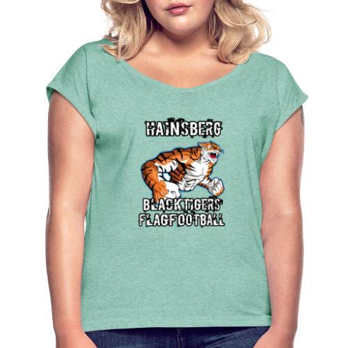 Hainsberg Blacktigers Team Logo - Frauen T-Shirt mit gerollten Ärmeln