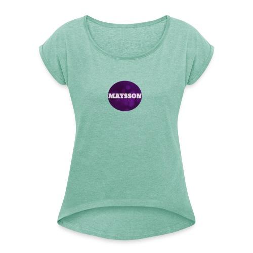 Photo Maysson vaate - Naisten T-paita, jossa rullatut hihat