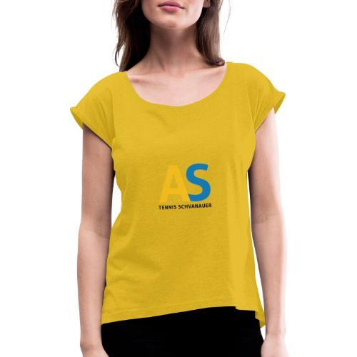 as logo - Maglietta da donna con risvolti