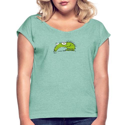 Grüner Rüsselkäfer - Frauen T-Shirt mit gerollten Ärmeln