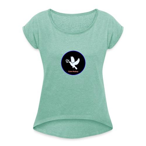 Kristet budskap - T-shirt med upprullade ärmar dam