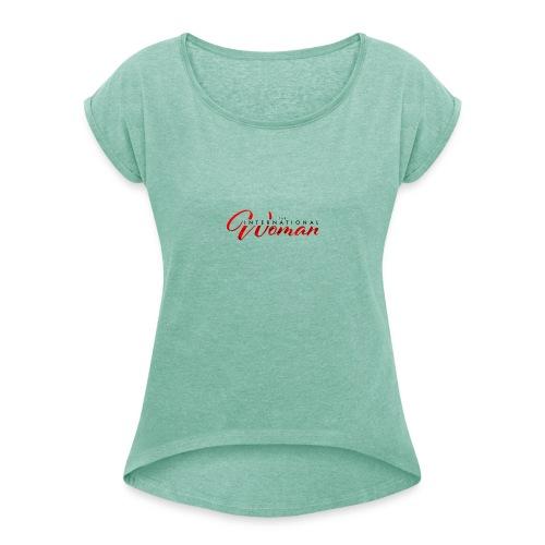 Untitled 1 - T-shirt med upprullade ärmar dam