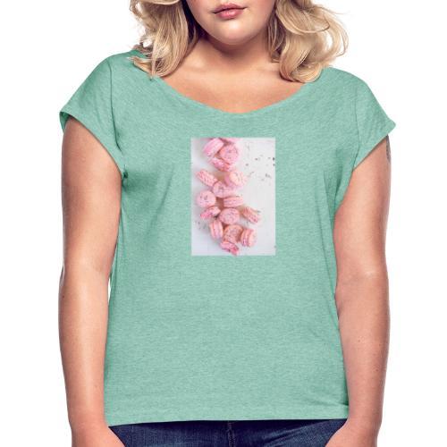 82C99425 3C93 4930 8646 44F845ADB717 - Frauen T-Shirt mit gerollten Ärmeln