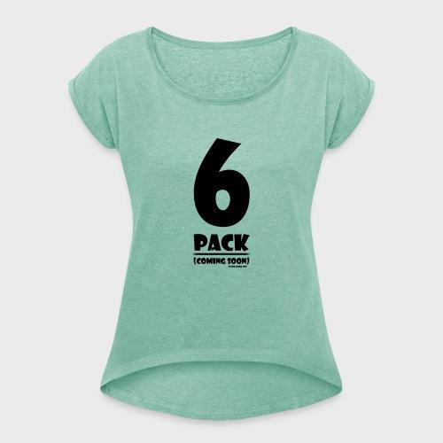 6 Pack - Frauen T-Shirt mit gerollten Ärmeln