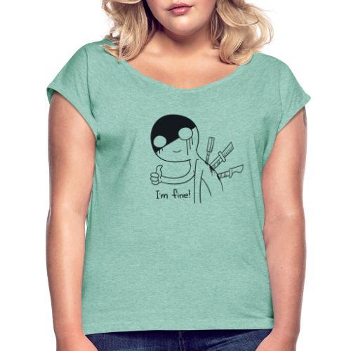fine - Frauen T-Shirt mit gerollten Ärmeln
