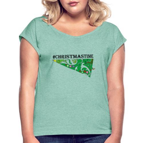 LIB TShirt Design - Frauen T-Shirt mit gerollten Ärmeln