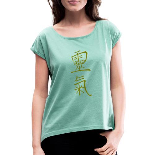 kanji Reiki inforeiki - Maglietta da donna con risvolti