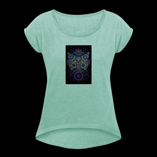 psychedelisch, psy, Dope, Goa, Farbig - Frauen T-Shirt mit gerollten Ärmeln