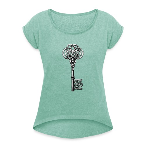 CHAVE-celtic-key-png - Camiseta con manga enrollada mujer