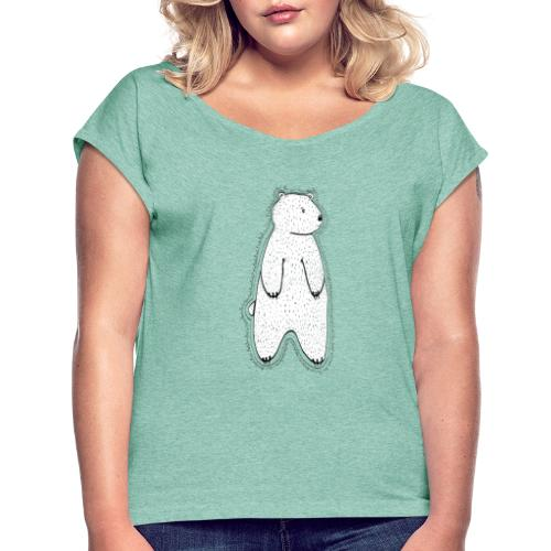 Little bear white / transparent. - Women's T-Shirt with rolled up sleeves