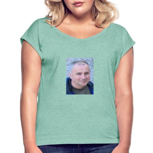 tibor csikos - T-shirt med upprullade ärmar dam