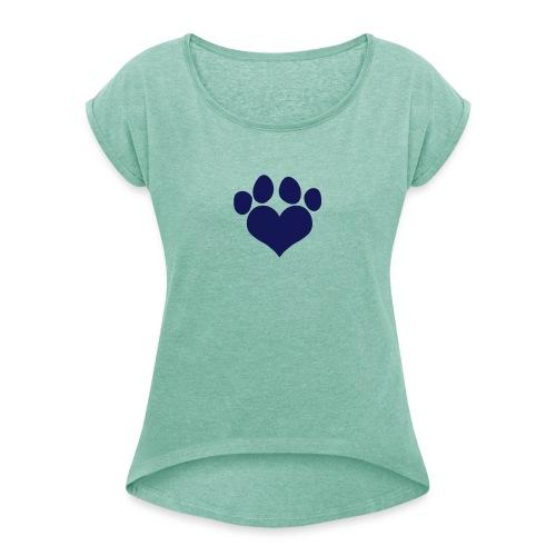 16958481 - T-skjorte med rulleermer for kvinner