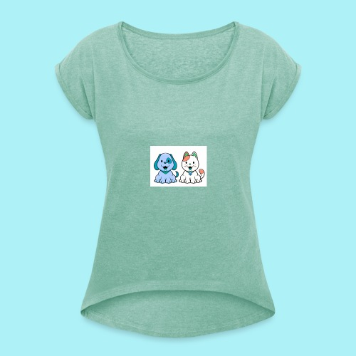 Pets animals - T-shirt à manches retroussées Femme