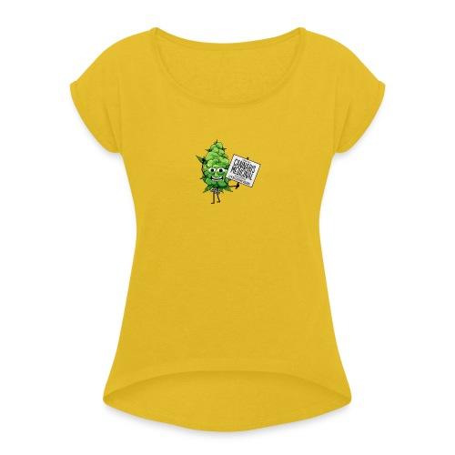 cannabis medicinal - T-shirt à manches retroussées Femme