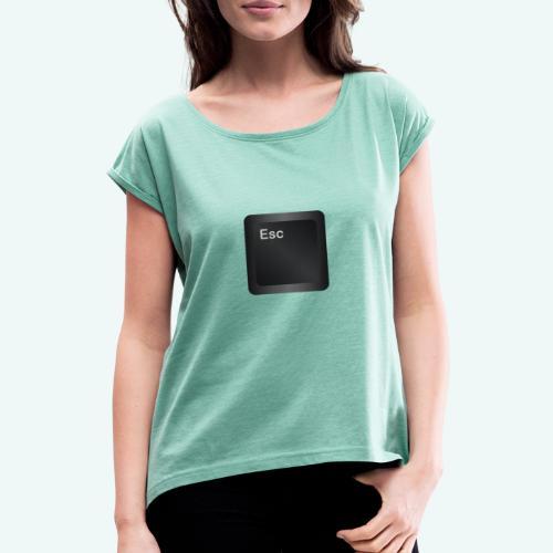 Escape - Frauen T-Shirt mit gerollten Ärmeln