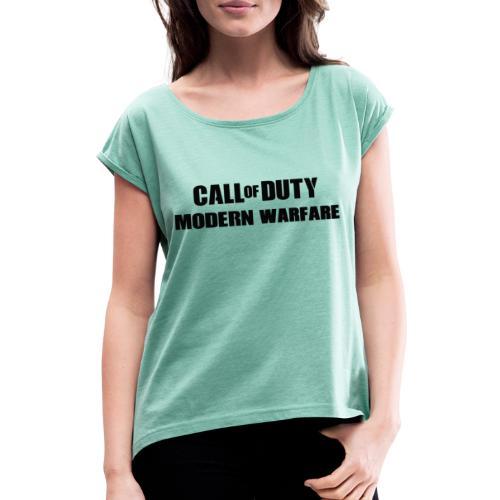 CoD Modern Warfare - Frauen T-Shirt mit gerollten Ärmeln