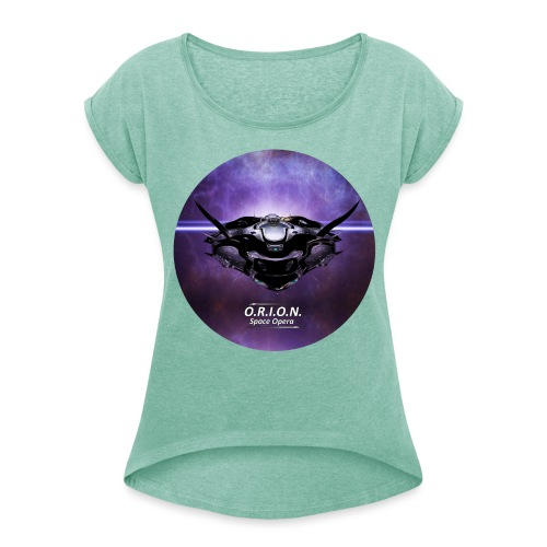 Eos - Frauen T-Shirt mit gerollten Ärmeln