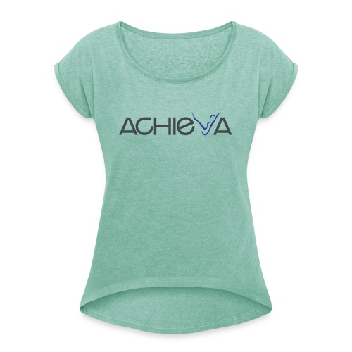 Achieva VECTOR PNG Image png - Women's T-Shirt with rolled up sleeves