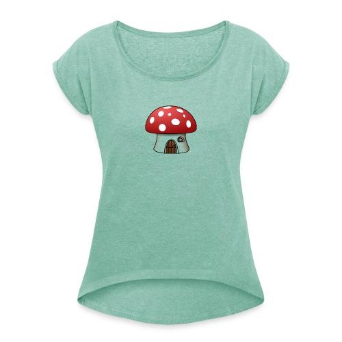 Haus - Frauen T-Shirt mit gerollten Ärmeln