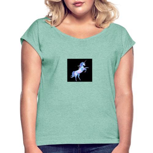 IMG 20190912 WA0007 - Frauen T-Shirt mit gerollten Ärmeln