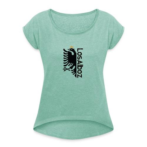 LosAlboz - Frauen T-Shirt mit gerollten Ärmeln