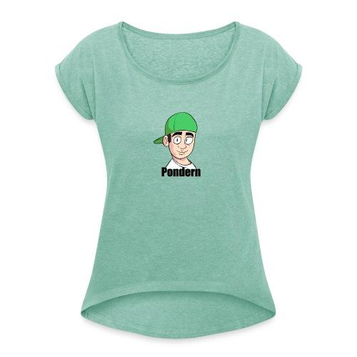 Pondern - T-skjorte med rulleermer for kvinner