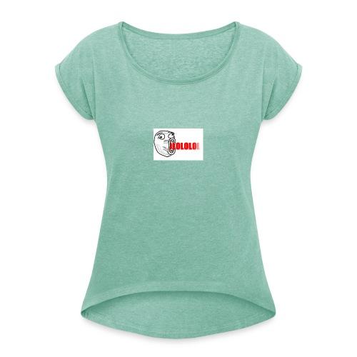 lol - Maglietta da donna con risvolti
