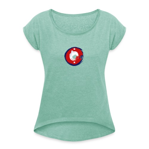Nepal Is Awesome - Women's T-Shirt with rolled up sleeves