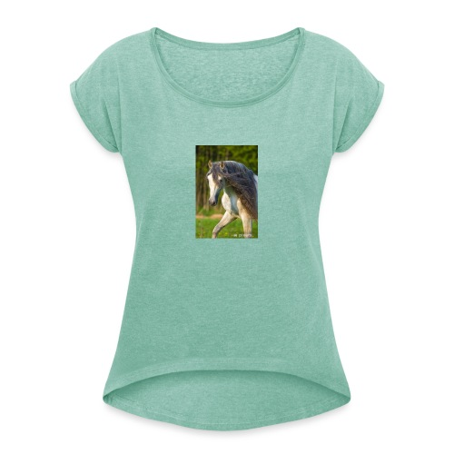 andaluz - Koszulka damska z lekko podwiniętymi rękawami