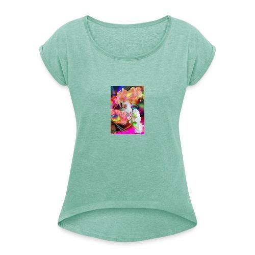 20190821 200254 - T-shirt à manches retroussées Femme