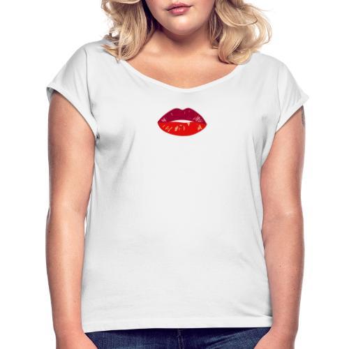 lips - T-shirt à manches retroussées Femme