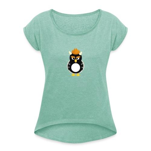 Pingouin Bowser - T-shirt à manches retroussées Femme